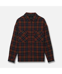 MLVINCE / wool gauze L/S shirts red
