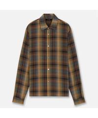 MLVINCE / rayon ombre check shirt orange