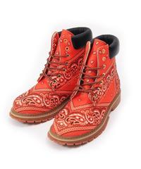 NOTFORSALE / paisly boots orange