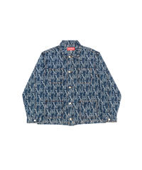 VANDYTHEPINK / vandy jacquard denim chore jacket