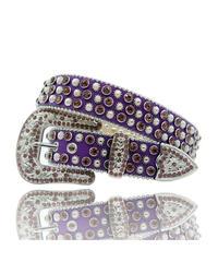 HERMETIC / crystal belt metal purple
