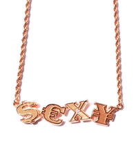 GHOST / sexy sign pink gold