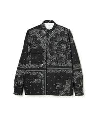 TAIN DOUBLE PUSH / paisley shirts black