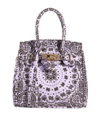 HERMETIC / paisley mini bag purple