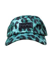 GRIMEY / yanga leopard 5 panels cap