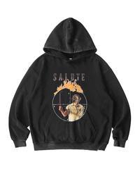 SALUTE / washed target hoodie