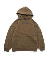 PLEASURES / logo hoodie olive