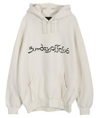 "SUNDAYOFFCLUB / oversized ""process of pilgrimage"" hoodie"