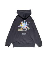 WANNA / www zip hoody black