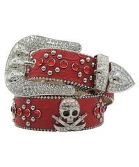 HERMETIC / skull leather belt