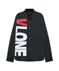 VLONE / sideways L/S button up