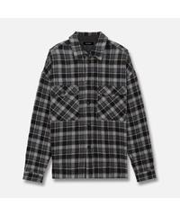 MLVINCE / wool gauze L/S shirts black