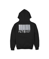 PATRIOT / basic logo zip hoodie black