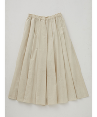 COTTON/LINEN WASHER FINISH CULOTTE  / ASH IVORY