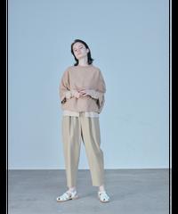 HIGH TWIST COTTON EASY PANTS  / BEIGE