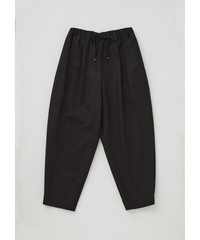HIGH TWIST COTTON EASY PANTS  / BLACK