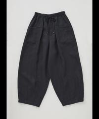 LINEN BALLOON PANTS  / CHARCOAL