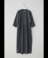 DOLMAN SLEEVE SHIRT DRESS / CHARCOAL