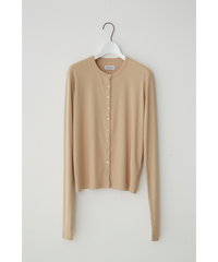 CREW-NECK TEREKO CARDIGAN LONG LONG SLEEVE / LIGHT BEIGE