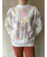 白花プリントセーター