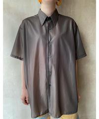 ブラウンシースルーシャツ