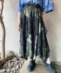 黒タイダイティアードデザインスカート