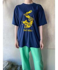 ネイビー龍ゴールド刺繍Tシャツ