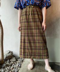ブラウンチェックロングスカート