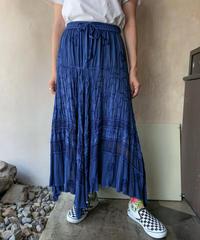 ケミカルインディアンネイビースカート