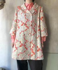 オレンジ金糸花コート