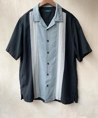シルク黒グレーシャツ