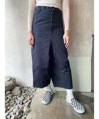 リメイクブラックデニム変形パンツ