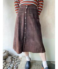 ブラウンスエードスカート