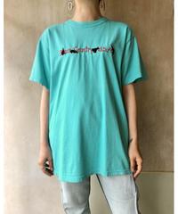 水色×熊刺繍Tシャツ