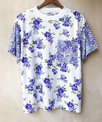 肩パッド入り花柄Tシャツ