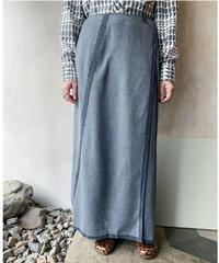 グレー巻きロングスカート