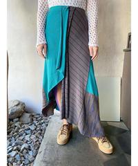 グリーングレーzipデザインスカート