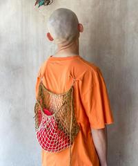 リメイク網バッグTシャツオレンジ