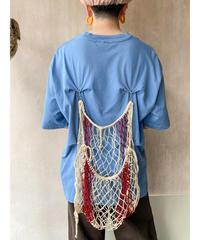 リメイク網バッグTシャツブルーグレー