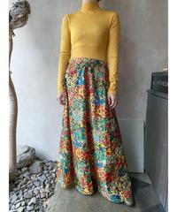 カラフル花柄スカート