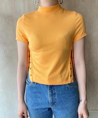 オレンジサイドスナップデザインTシャツ