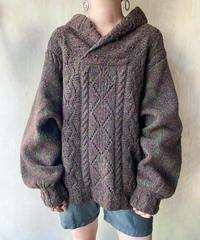 ブラウンカーキMIX BIGセーター