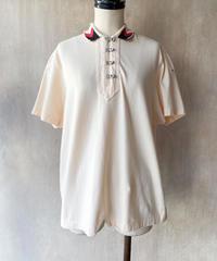カットソー地衿ボタンデザインシャツ