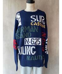 nautica 文字いっぱいセーター