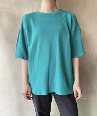 グリーンコットンメッシュTシャツ
