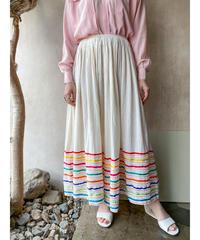ギャザーカラフルテープロングスカート