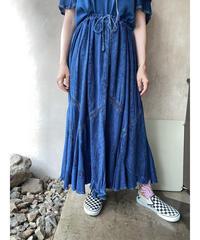 ケミカルインディアンネイビーロングスカート