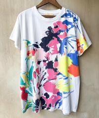 カラフルペイントプリントTシャツ