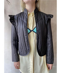 肩フリルキルティングジャケット