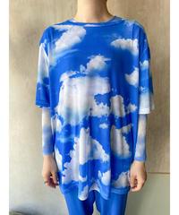 雲シースルーTシャツ
